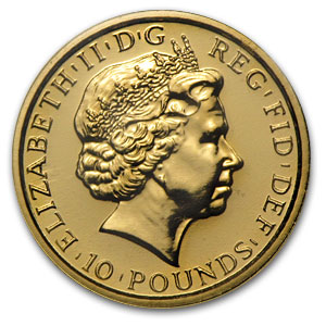 2011 Great Britain 1/10 oz Gold Britannia BU
