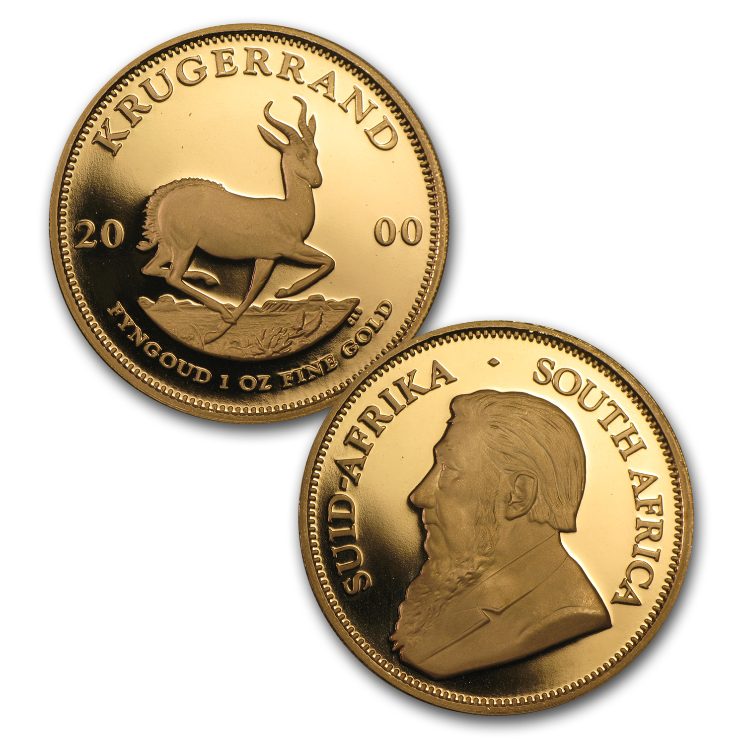 2000 South Africa 5-Coin Gold Krugerrand Proof Set