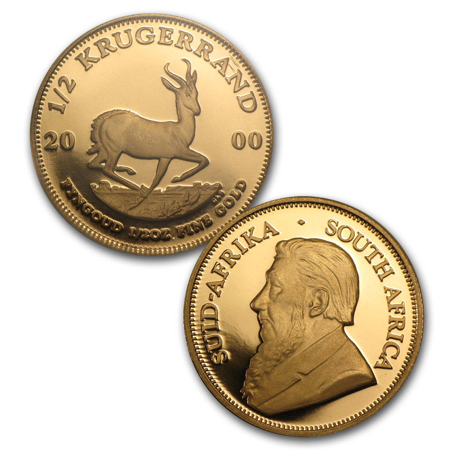 2000 5-Coin Gold South African Krugerrand Proof Set (w/Box & CoA)