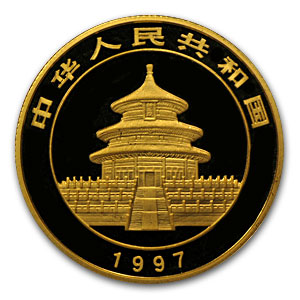 1997 China 1/2 oz Gold Panda Large Date BU (Sealed)