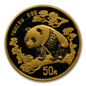 1997 (1/2 oz) Gold Chinese Pandas - Large Date (Sealed)