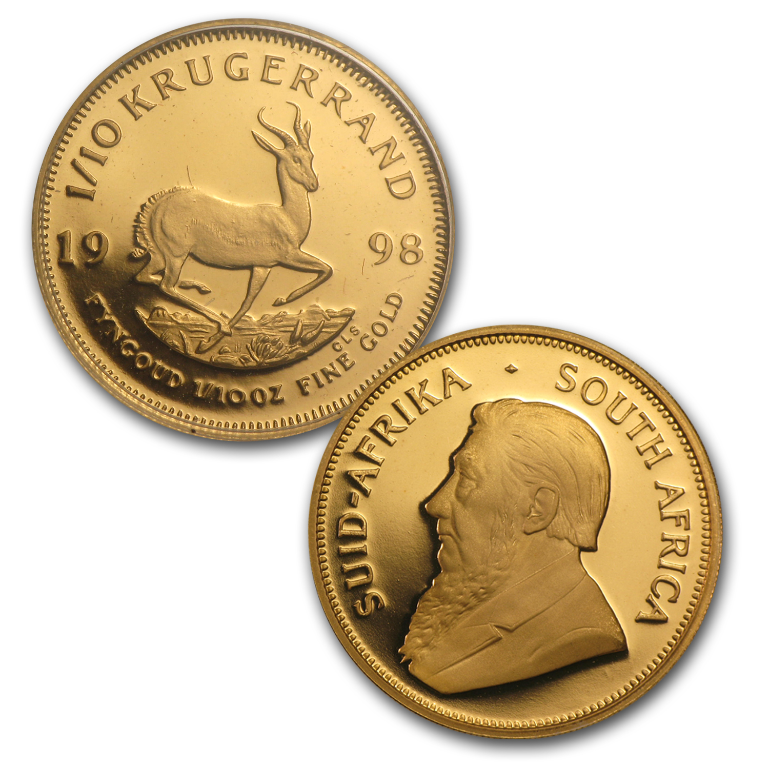 1998 South Africa 5-Pc Gold Krugerrand DeBeers Proof Set