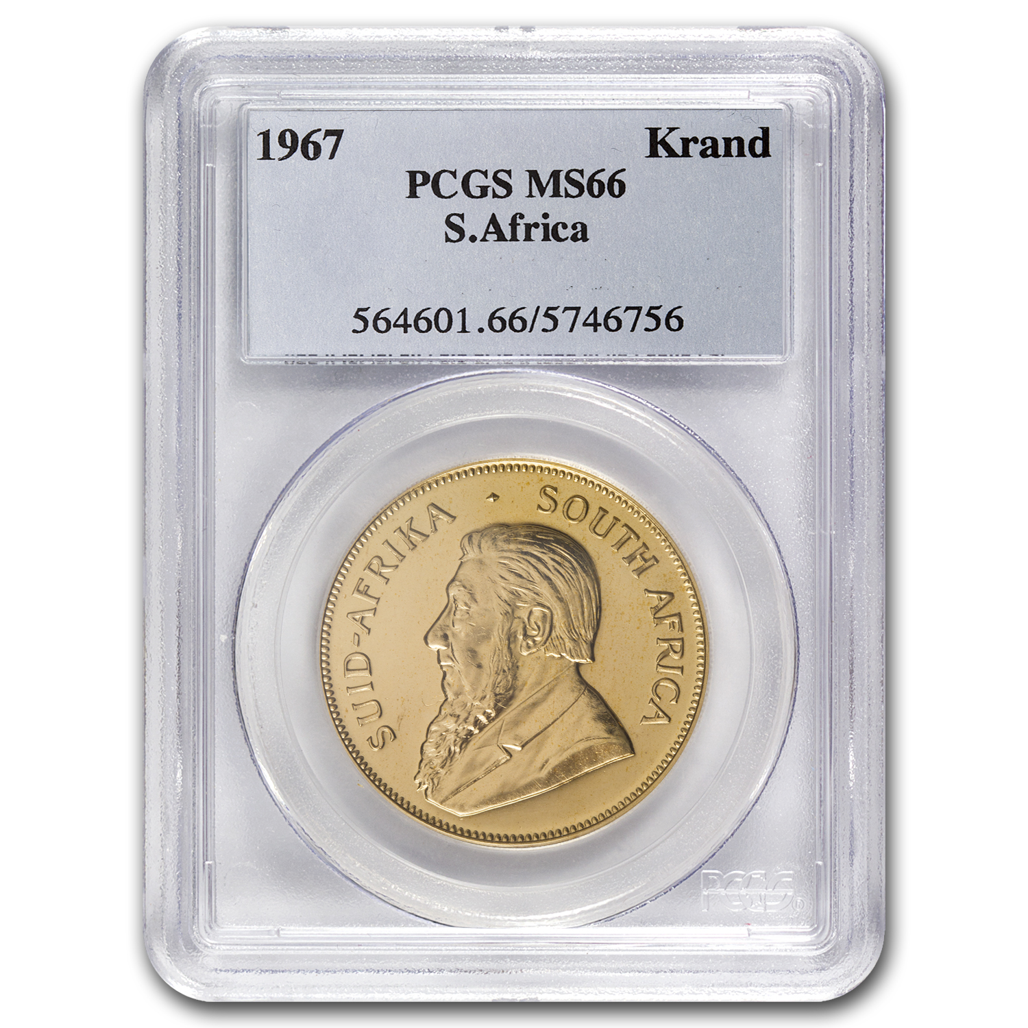 1967 South Africa 1 oz Gold Krugerrand MS-66 PCGS
