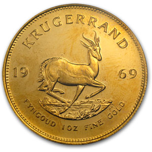 1969 1 oz Gold South African Krugerrand PCGS MS66