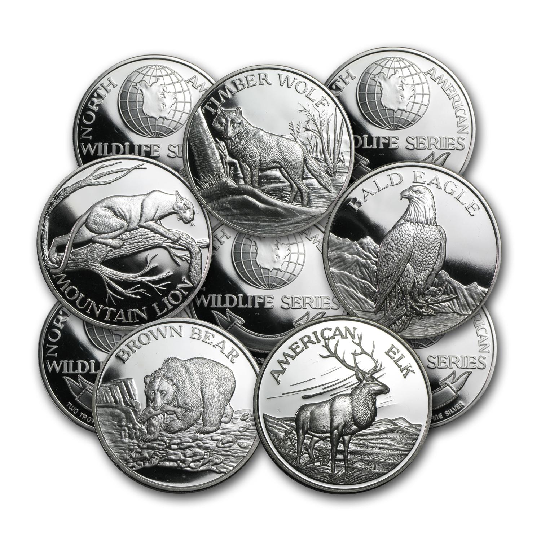 1 Oz Silver Rounds 999 Fine