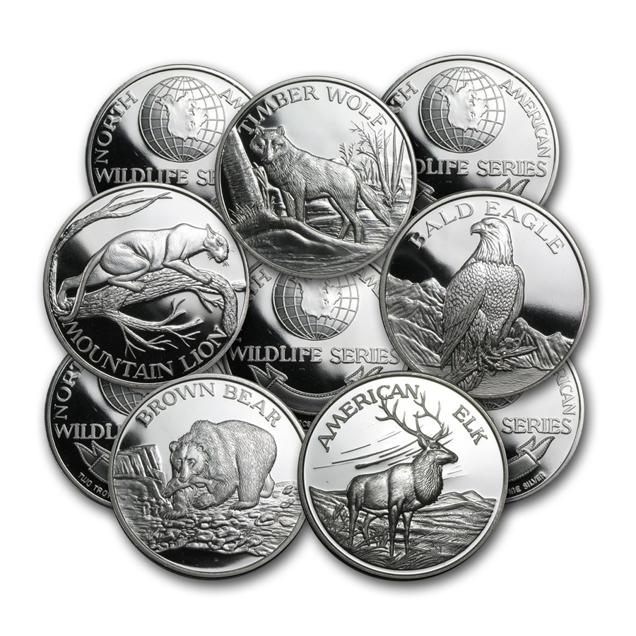 2 Oz Silver Round North American Wildlife Series 2 Oz