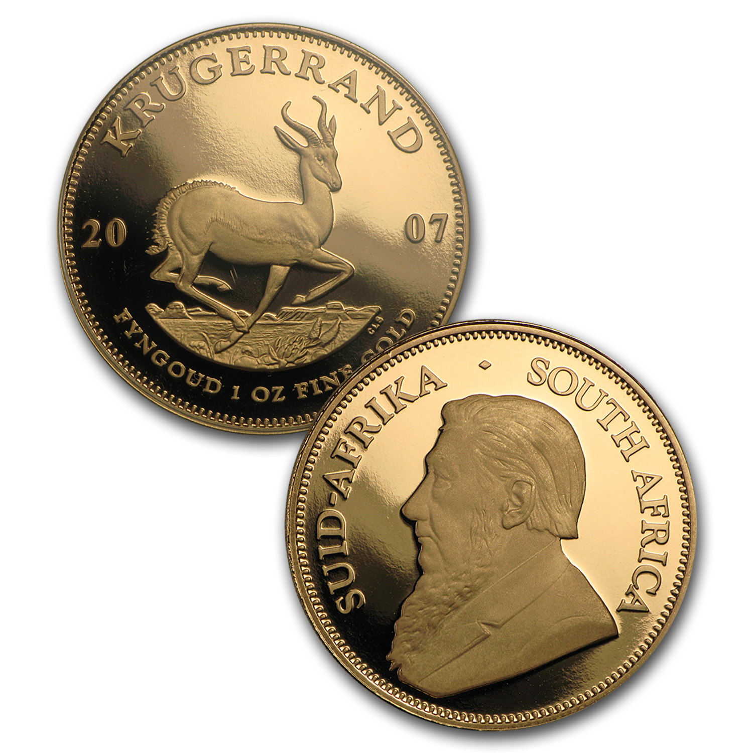 2007 South Africa 5-Pc Gold Krugerrand 40th Anniv Proof Set