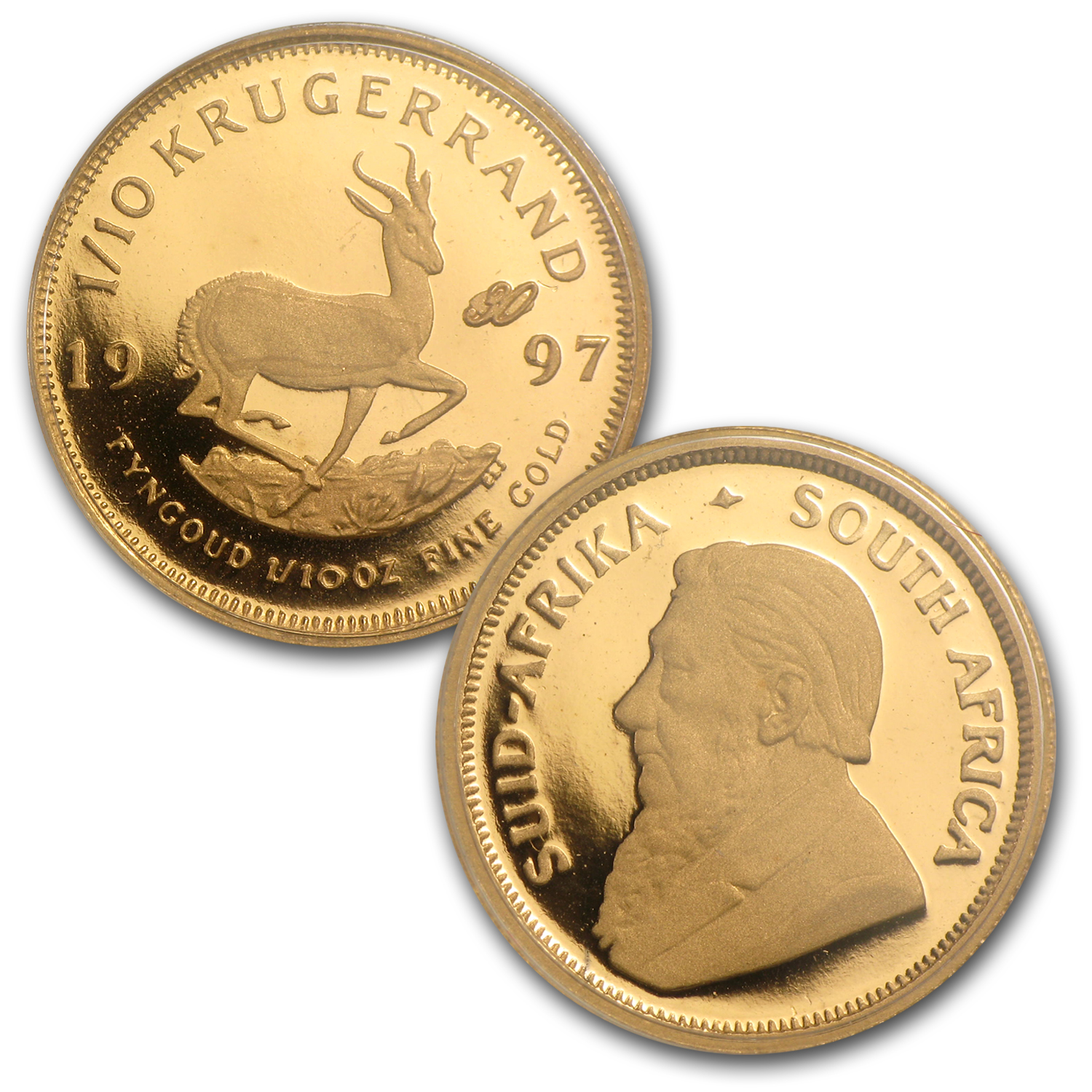 1997 South Africa 4-Coin Gold Krugerrand 30th Anniv Prf Set