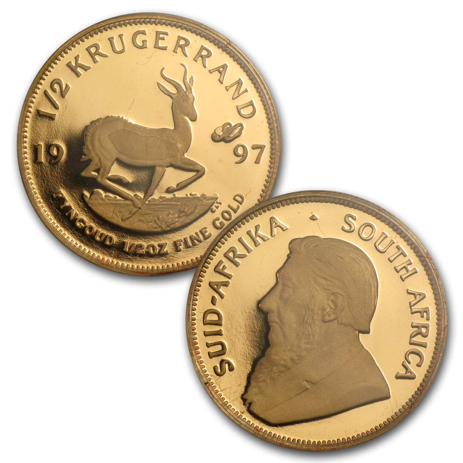1997 4-Coin Gold South African Krugerrand 30th Anniv Prf Set