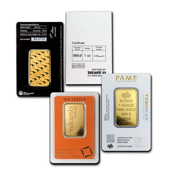 1 Oz Gold Bar Assay Card Gold Bars For Sale Buy 9999