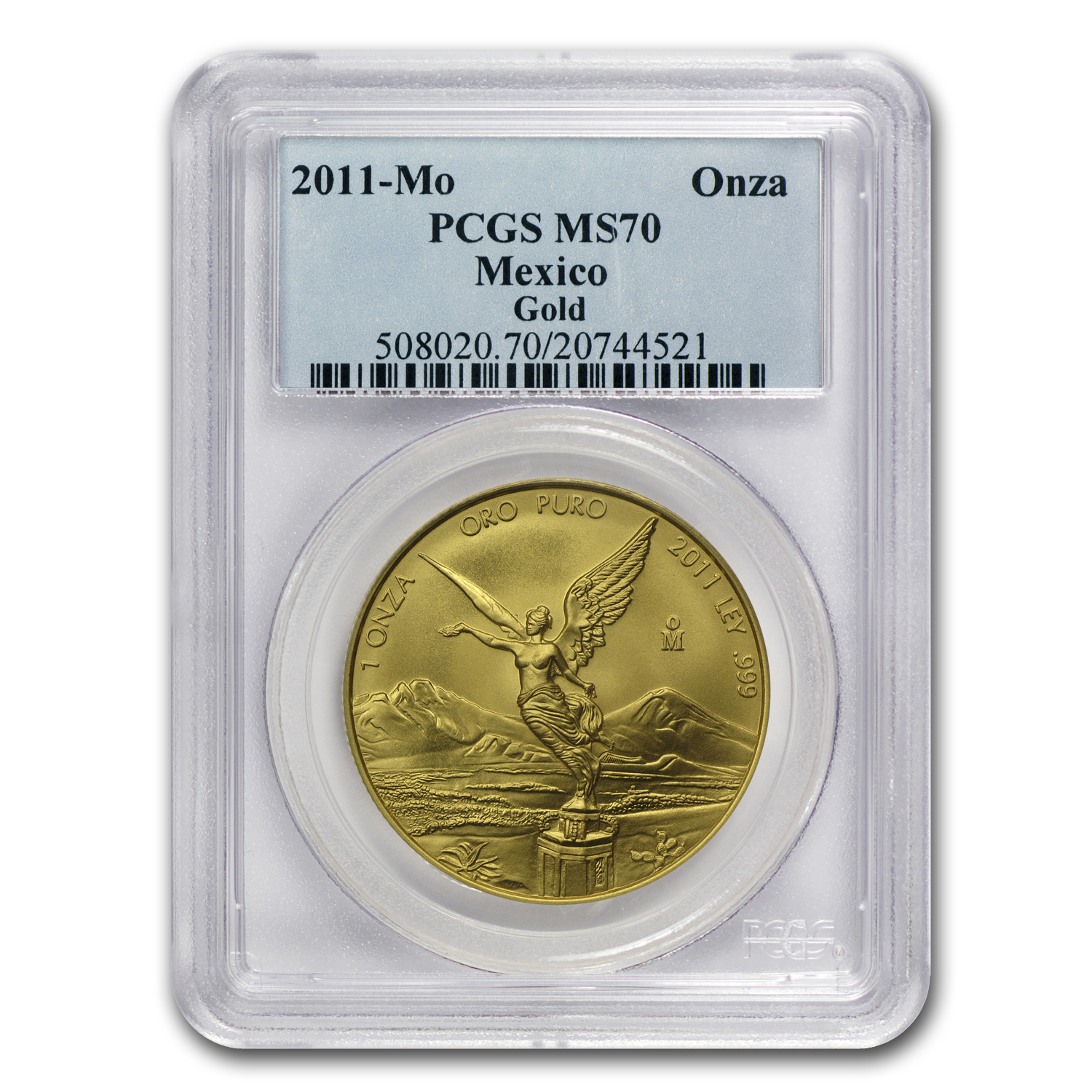 2011 1 oz Gold Mexican Libertad MS-70 PCGS