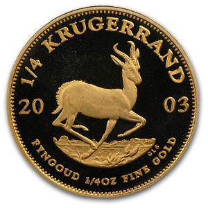 2003 1/4 oz Gold South African Krugerrand (Proof)