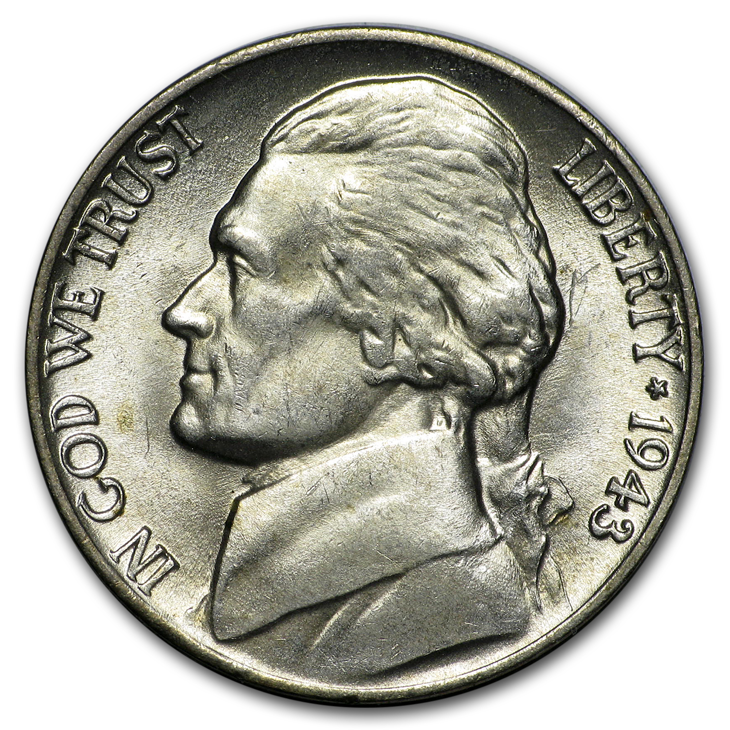1943-P Silver Jefferson Nickel BU