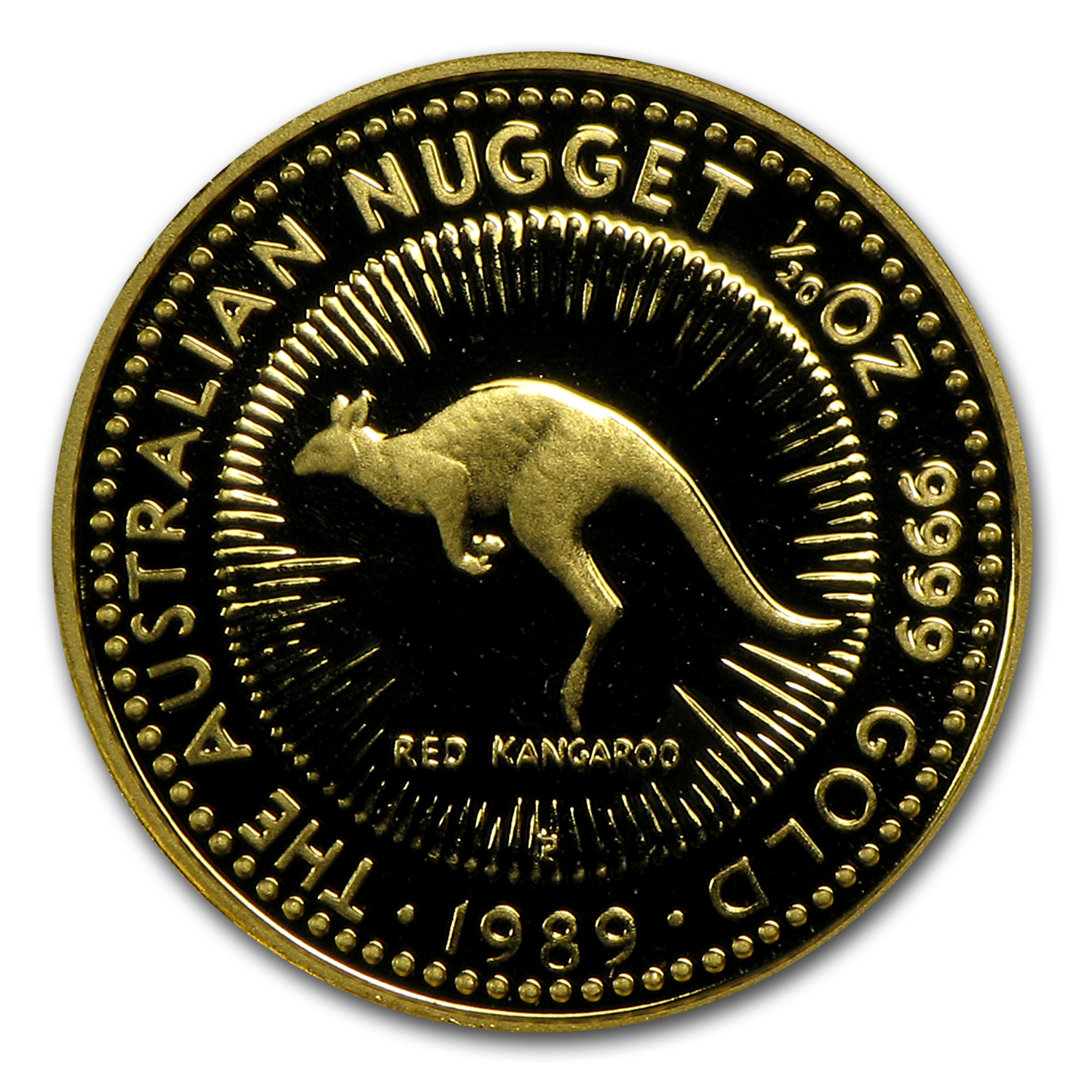 1989 Australia 1/20 oz Proof Gold Nugget