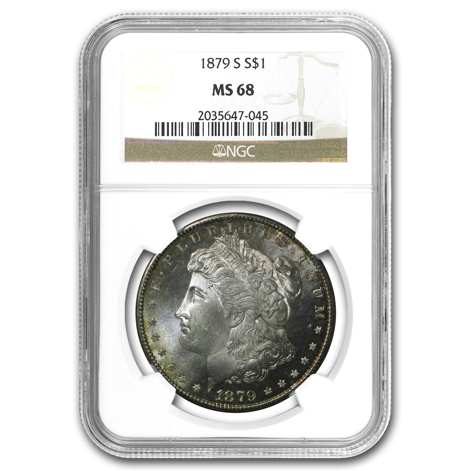 1878-1904 Morgan Dollars MS-68 NGC