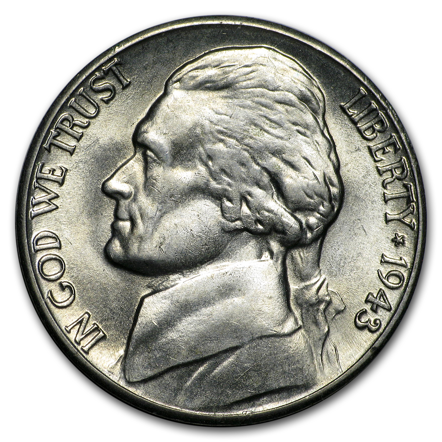 1943-D Silver Jefferson Nickel BU