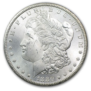 1880-CC Morgan Dollar (Brilliant Uncirculated) 20 Count Roll