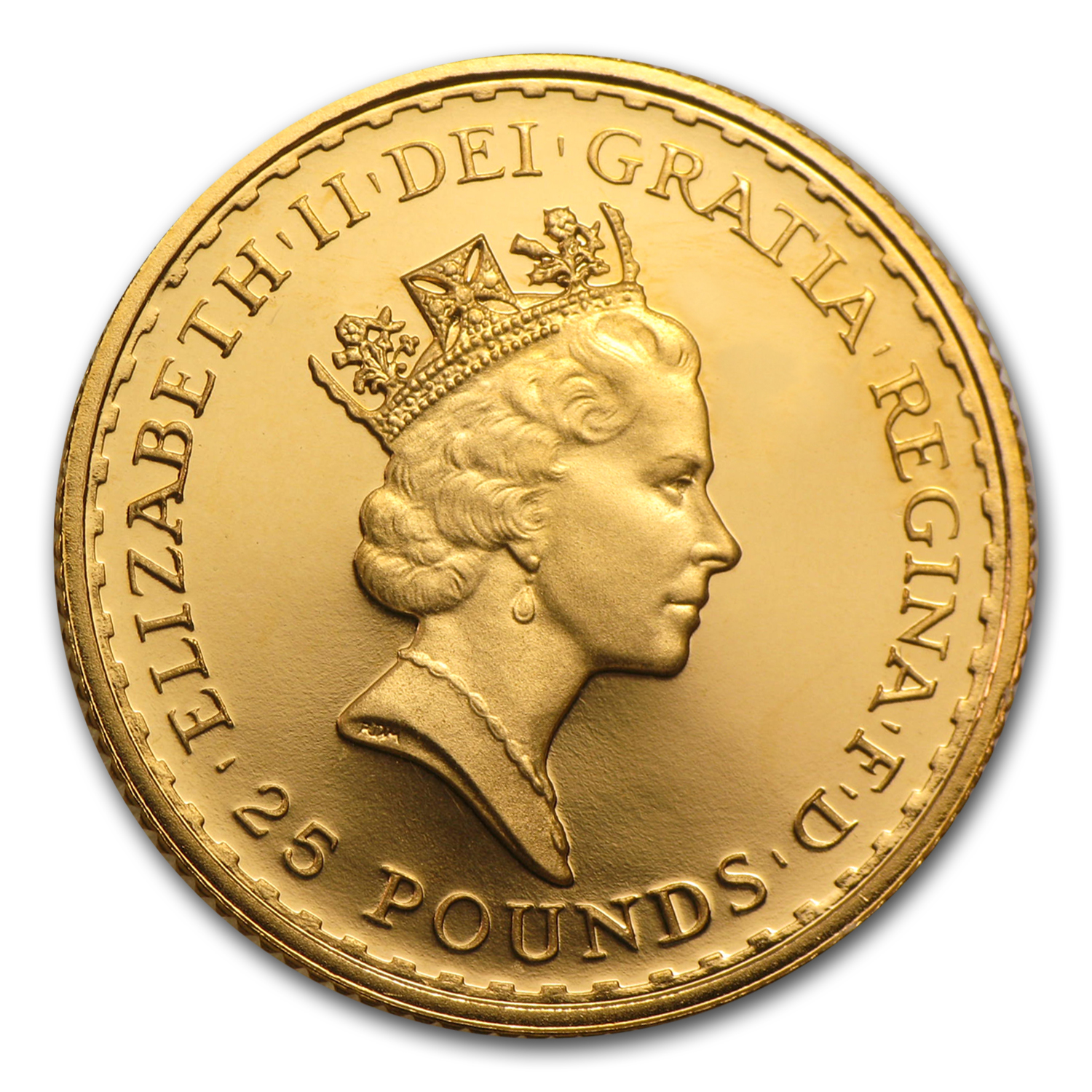 1988 Great Britain 1/4 oz Proof Gold Britannia