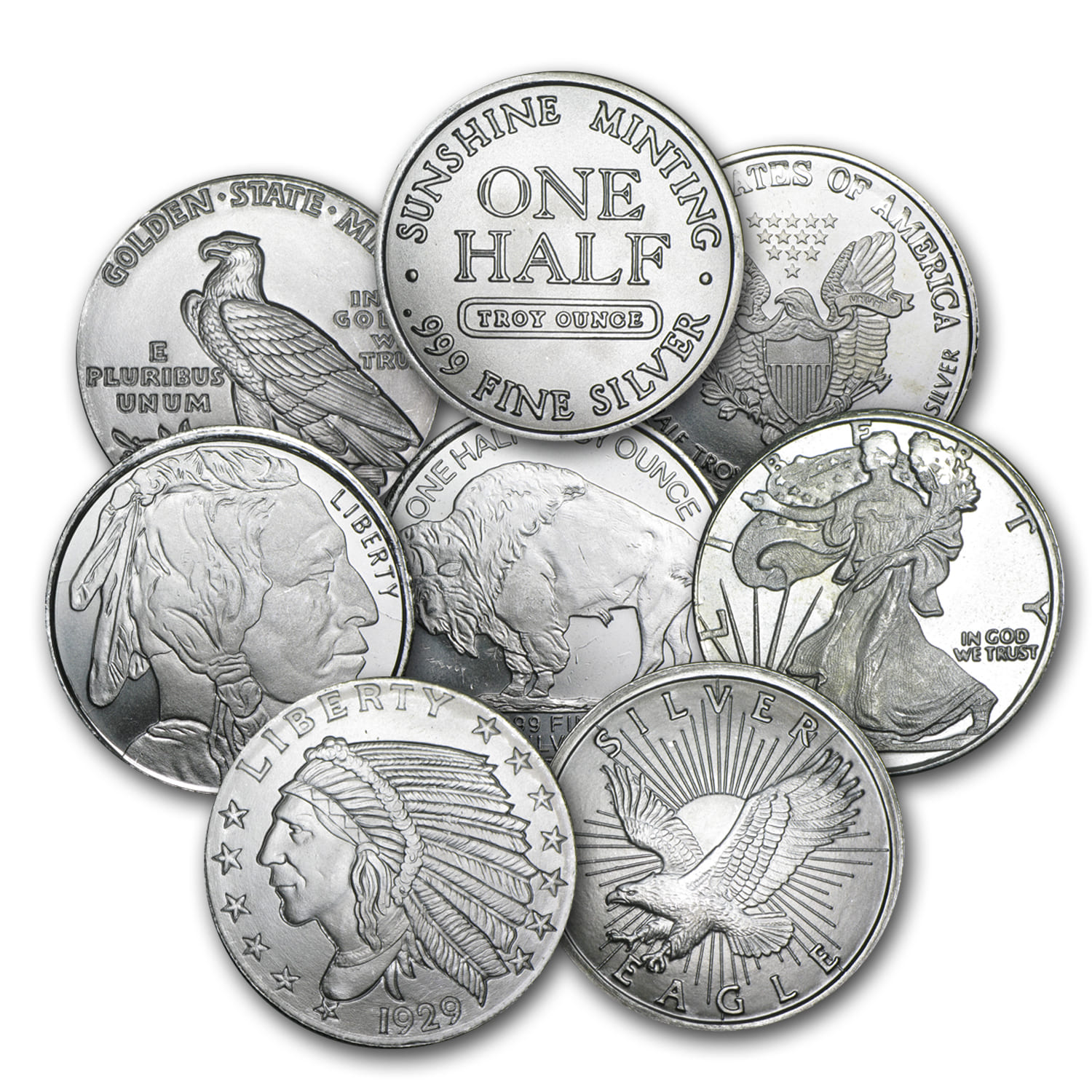 1/2 oz Silver Rounds - Secondary Market