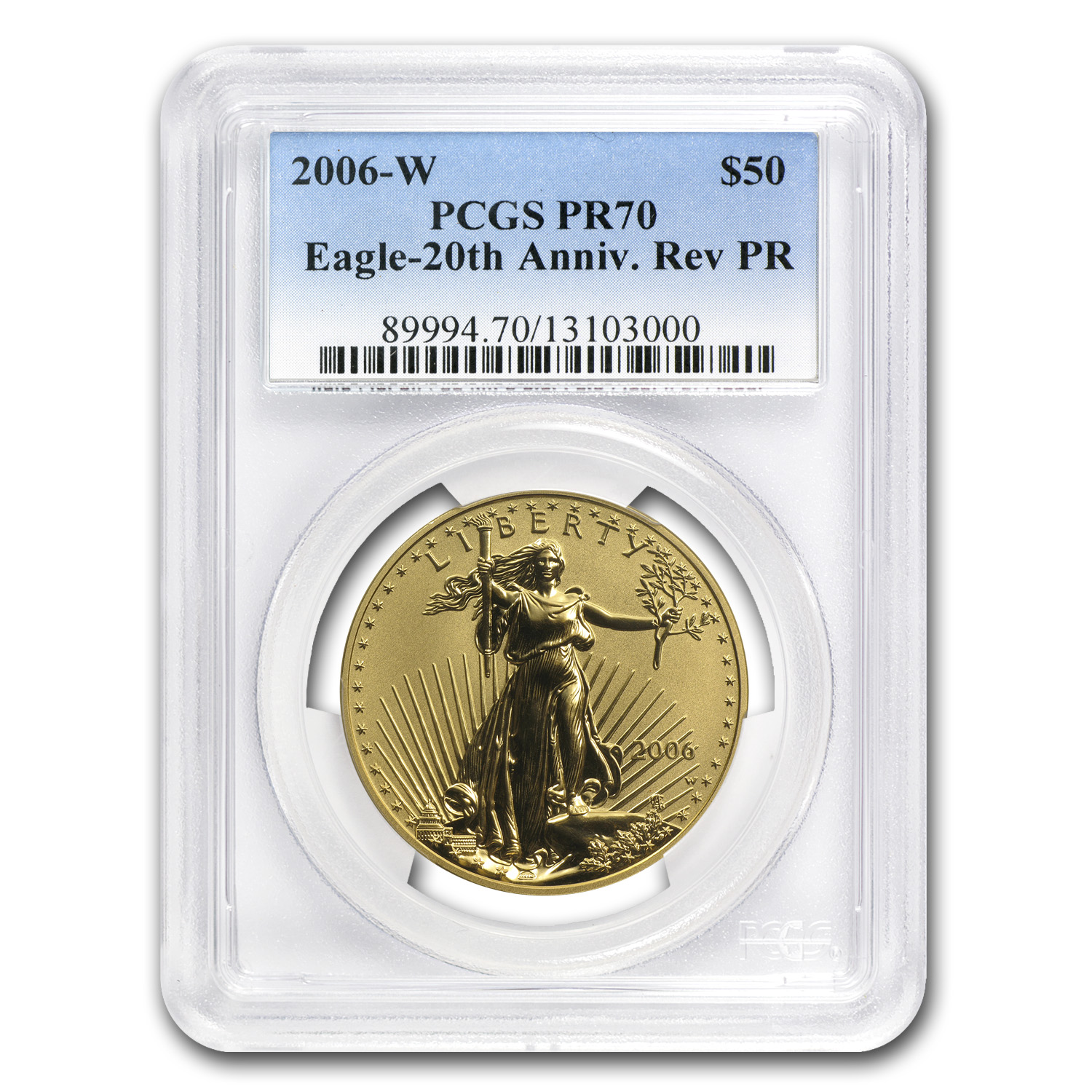 2006-W 1 oz Reverse Proof Gold American Eagle PR-70 PCGS