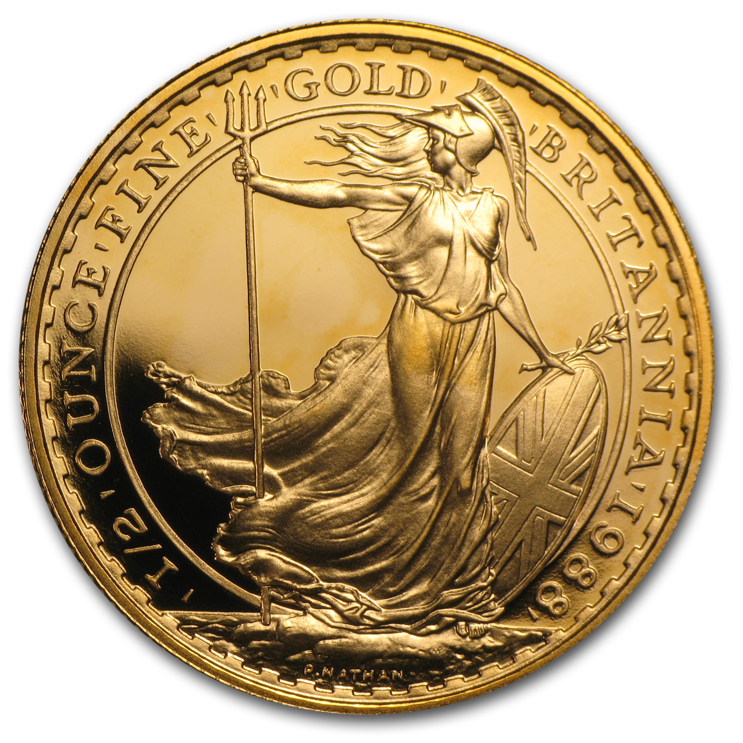 1988 1/2 oz Proof Gold Britannia