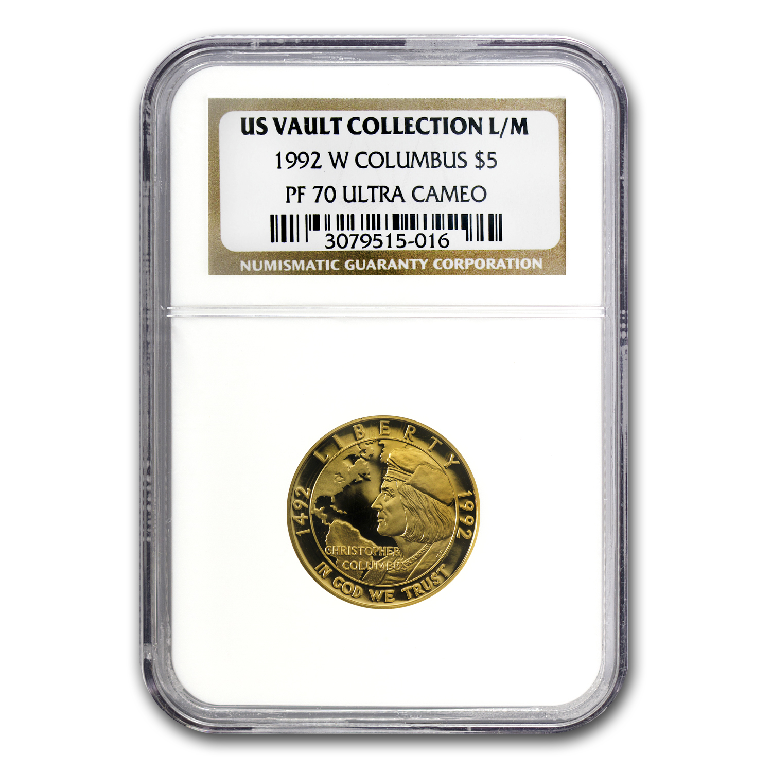 US Mint $5 Gold Commem MS & PF-70 NGC/PCGS