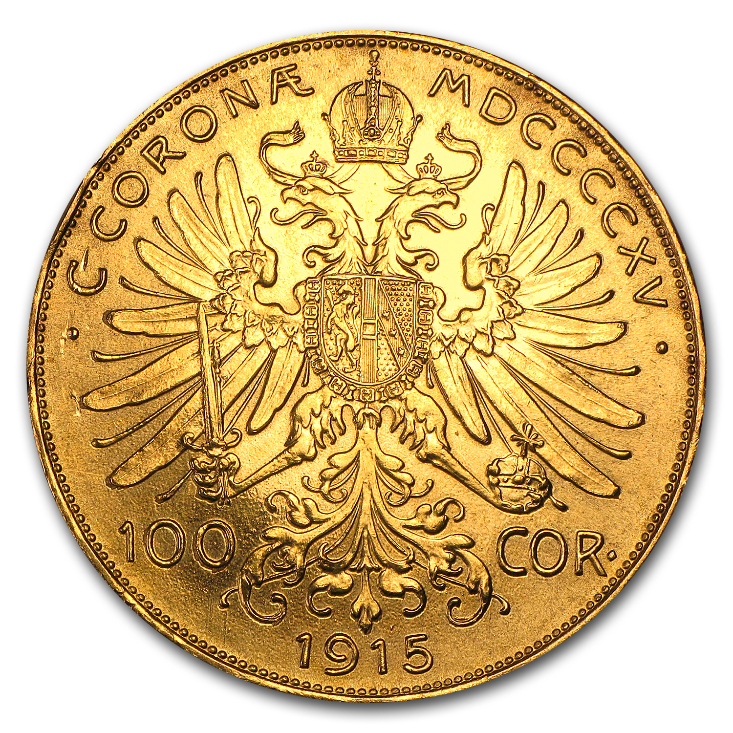 Austria Gold - 100 Coronas (Well Worn) (1915 Restrikes)