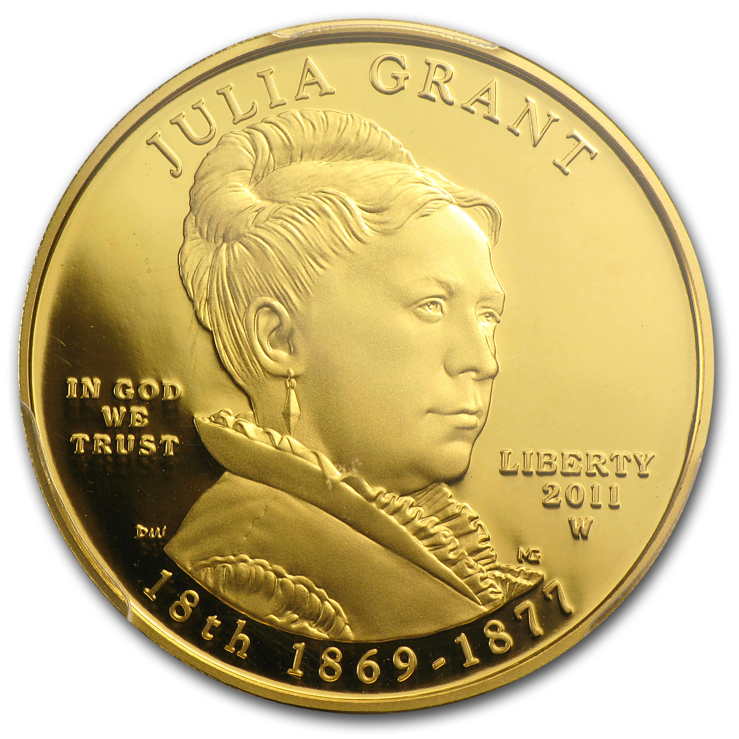 2011-W 1/2 oz Proof Gold Julia Grant PR-69 PCGS (First Strike)