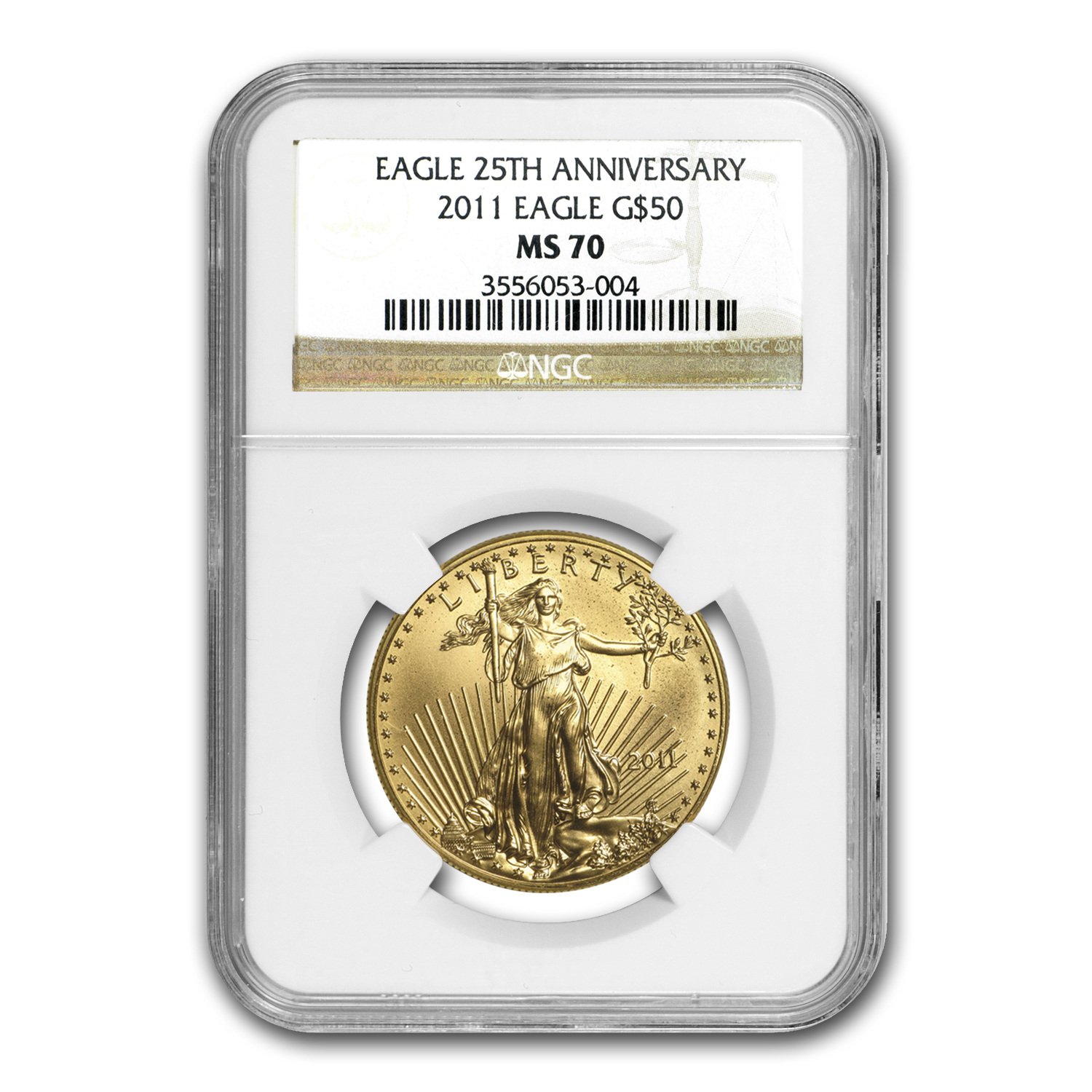 2011 1 oz Gold American Eagle NGC MS-70