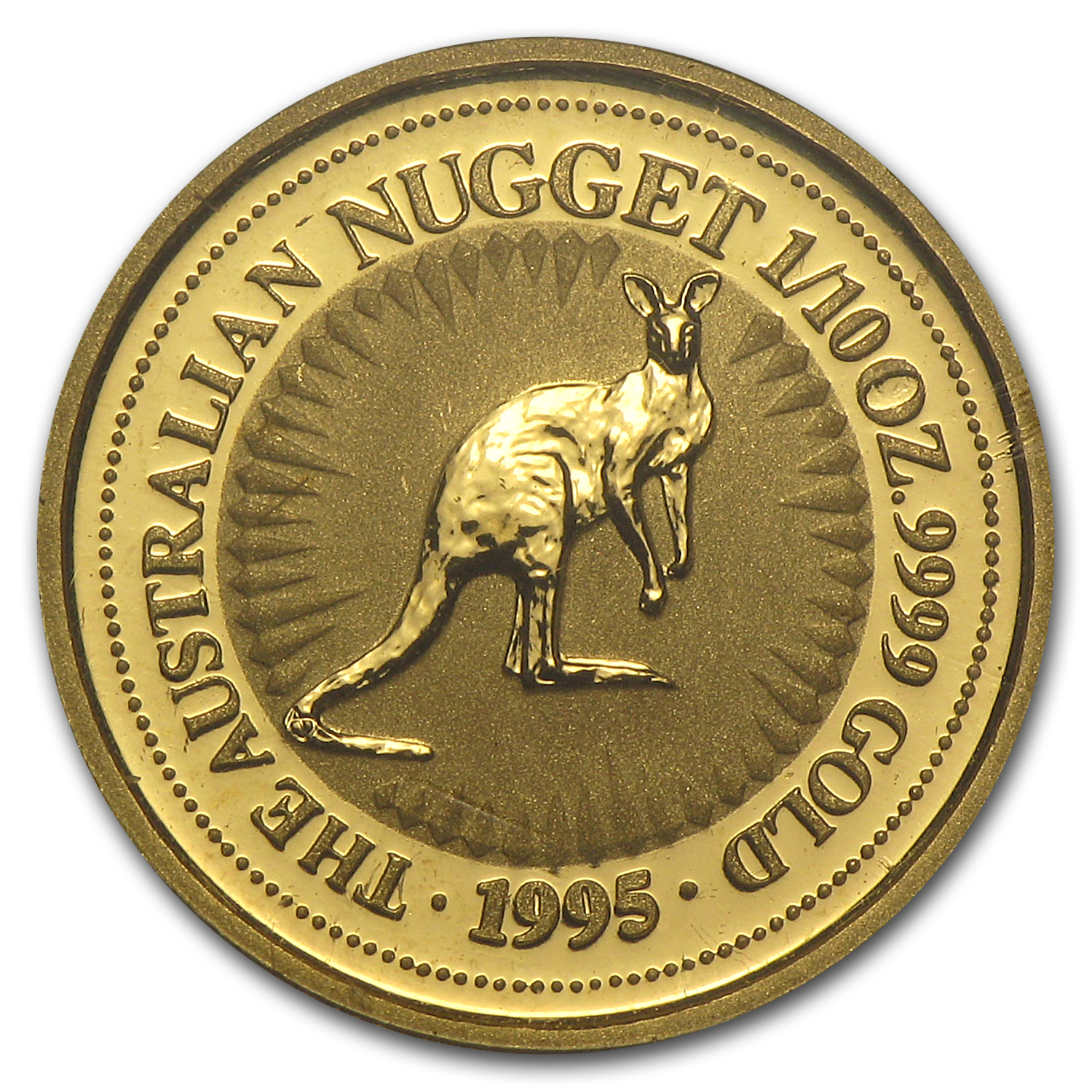 1995 Australia 1/10 oz Gold Nugget
