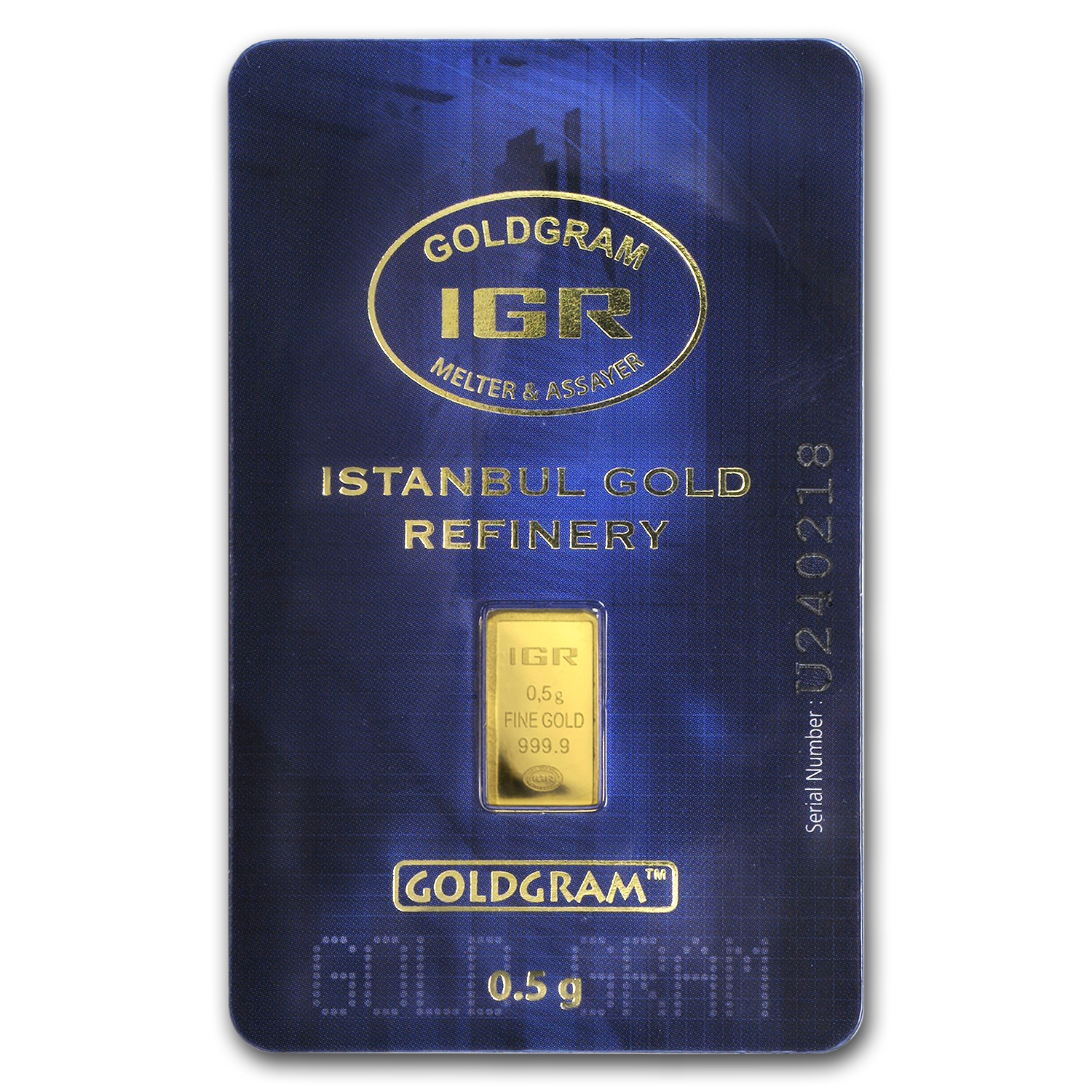 1/2 gram Gold Bars - Istanbul Gold Refinery (In Assay)