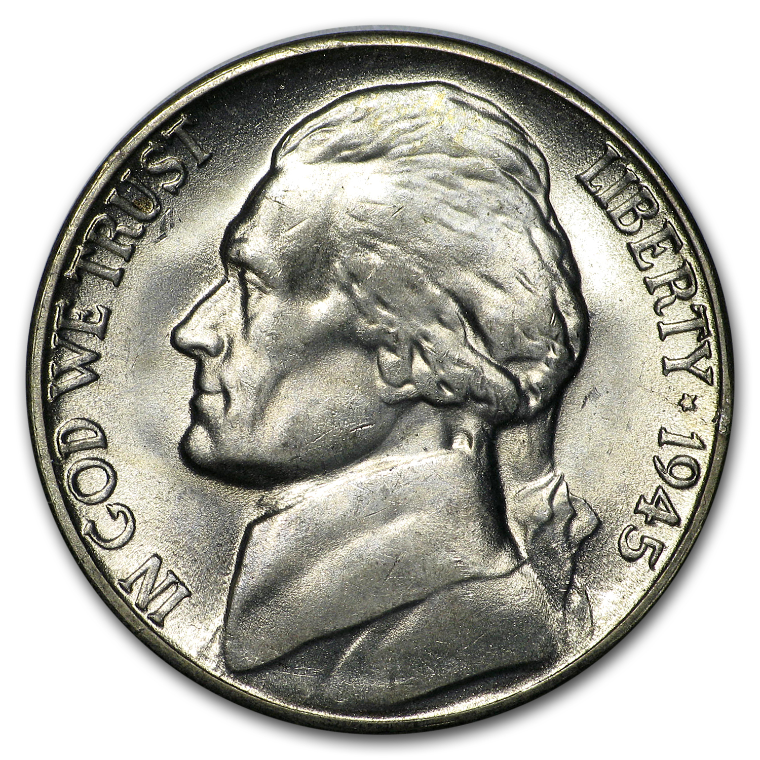 1945-S Silver Jefferson Nickel BU