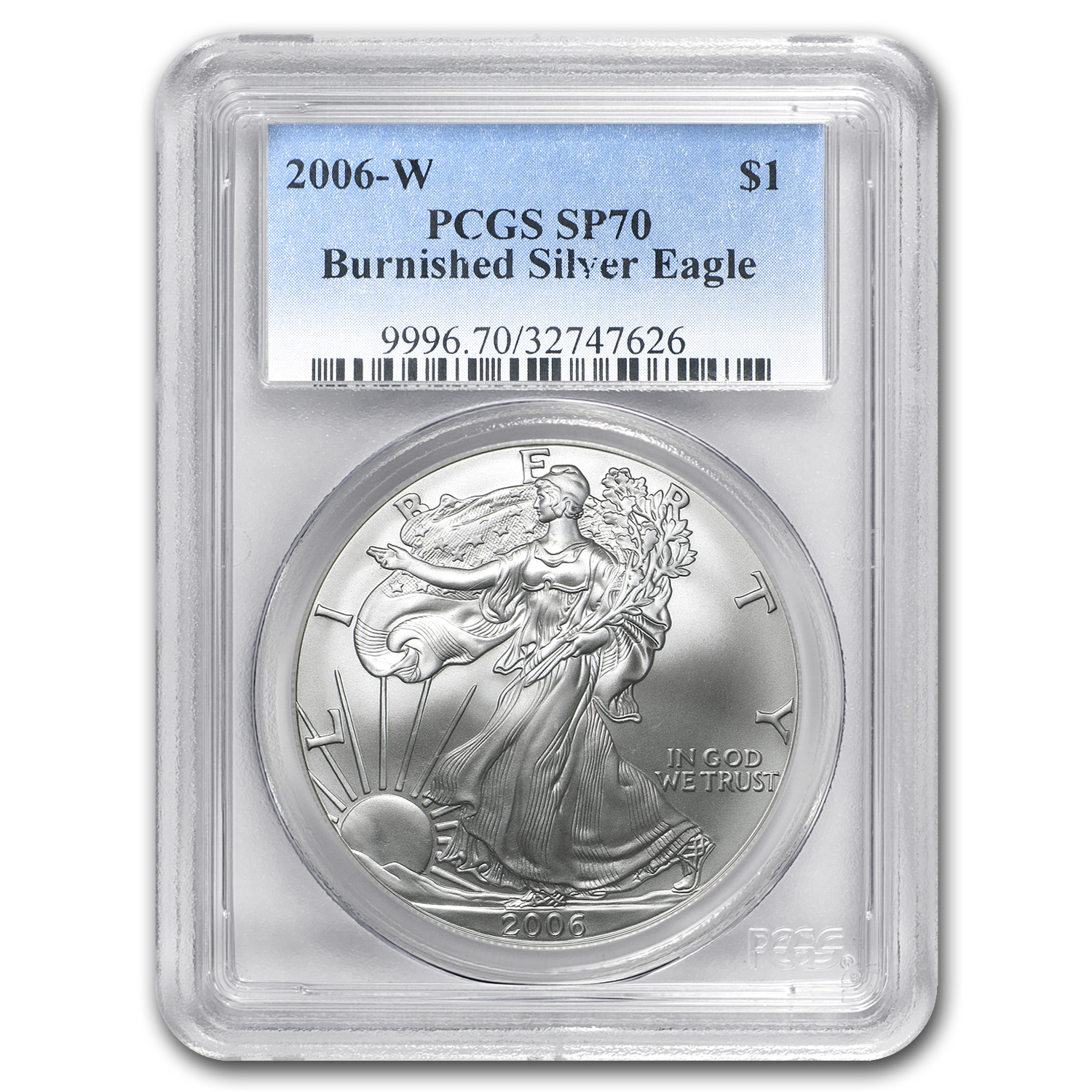 2006-W Burnished Silver American Eagle MS-70 PCGS