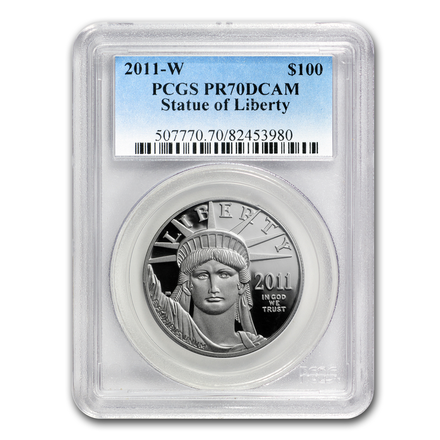 2011-W 1 oz Proof Platinum American Eagle PCGS PR-70