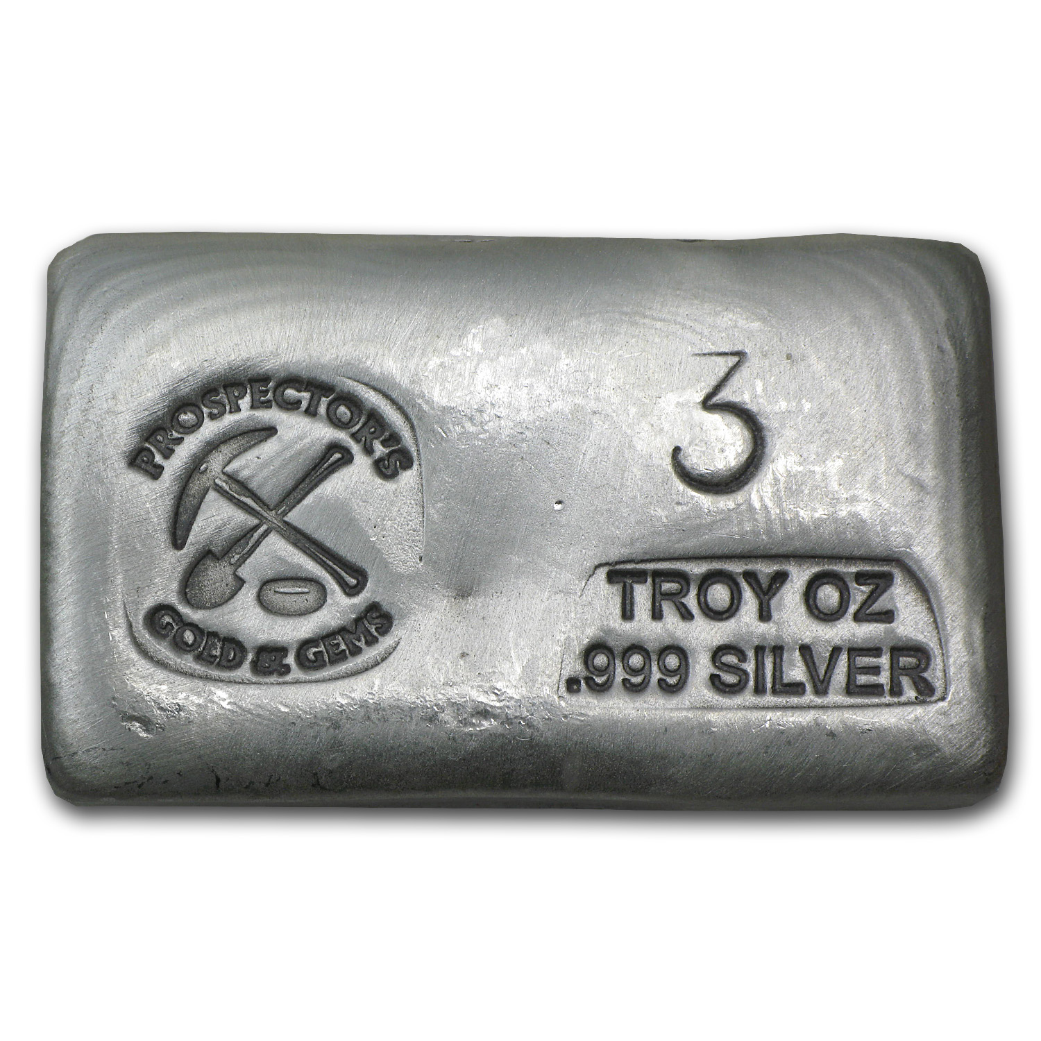 3 oz Silver Bars - Prospector's Gold & Gems