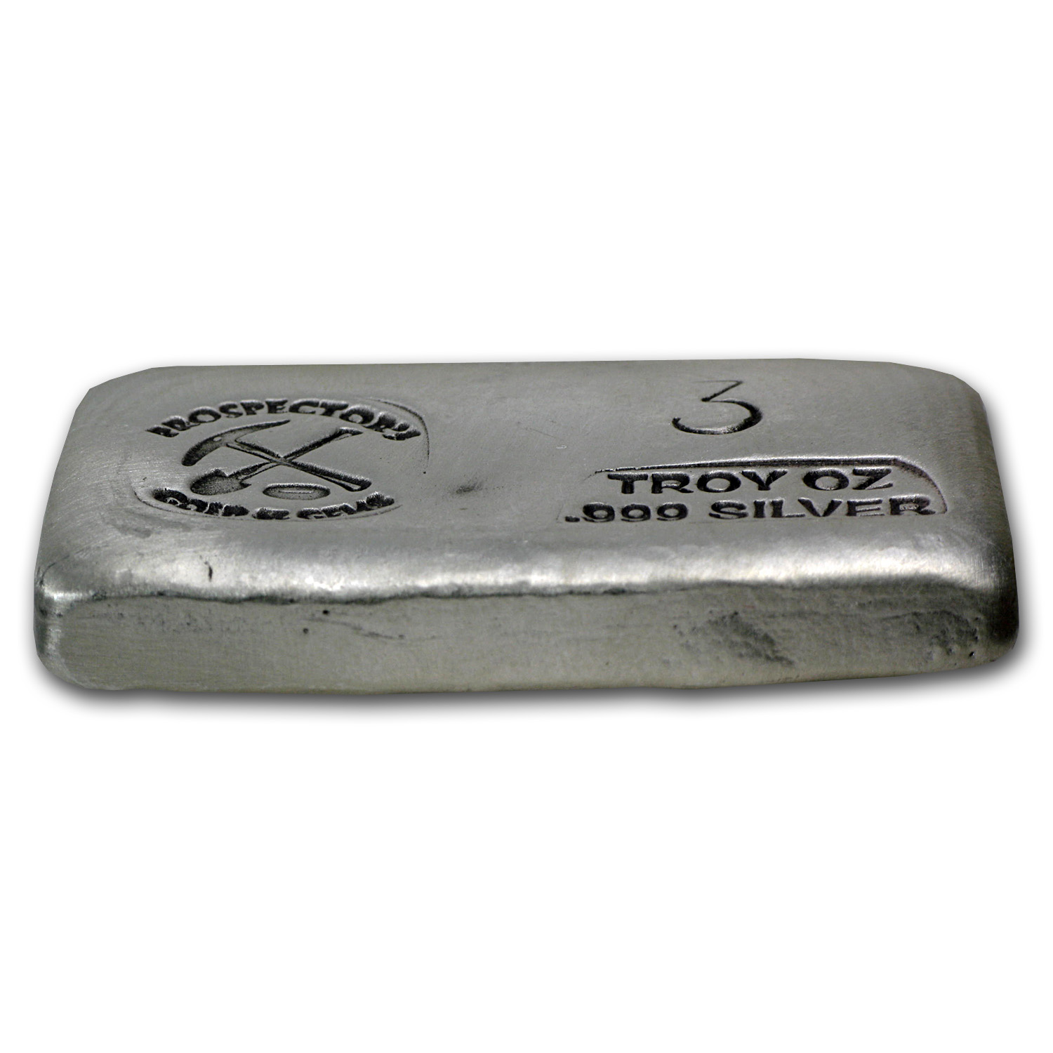 3 oz Silver Bar - Prospector's Gold & Gems