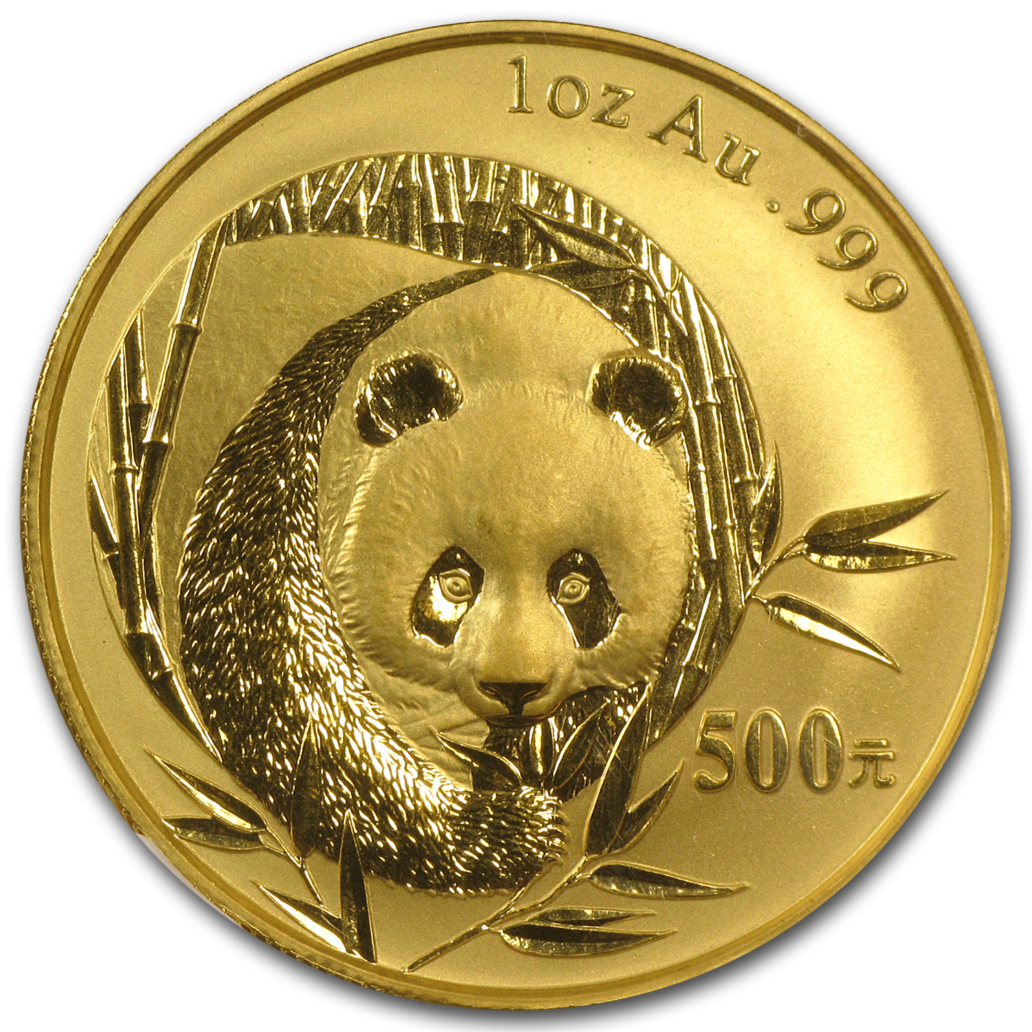 2003 1 oz Gold Chinese Panda MS-69 NGC