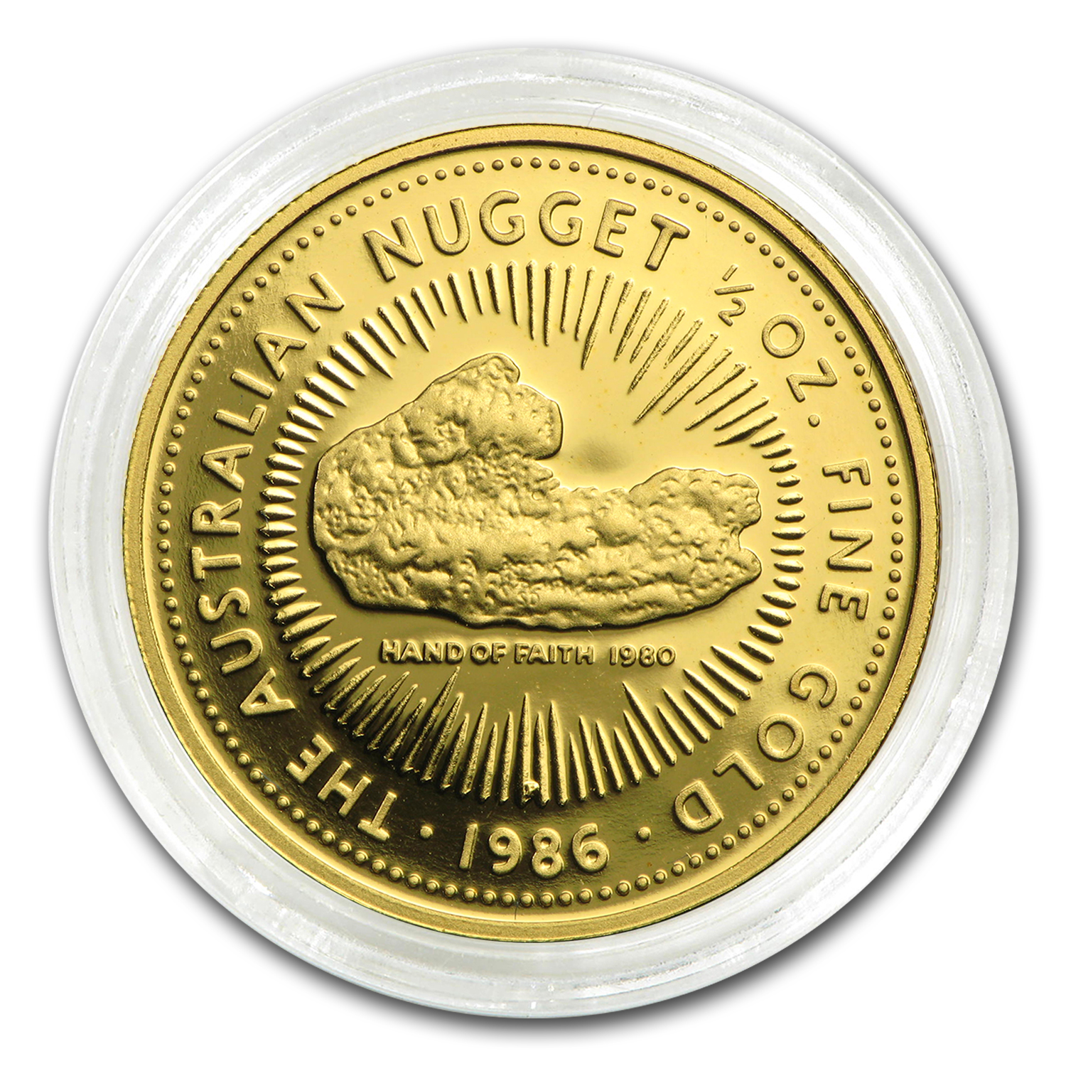 1986 1/2 oz Australian Gold Nugget Proof