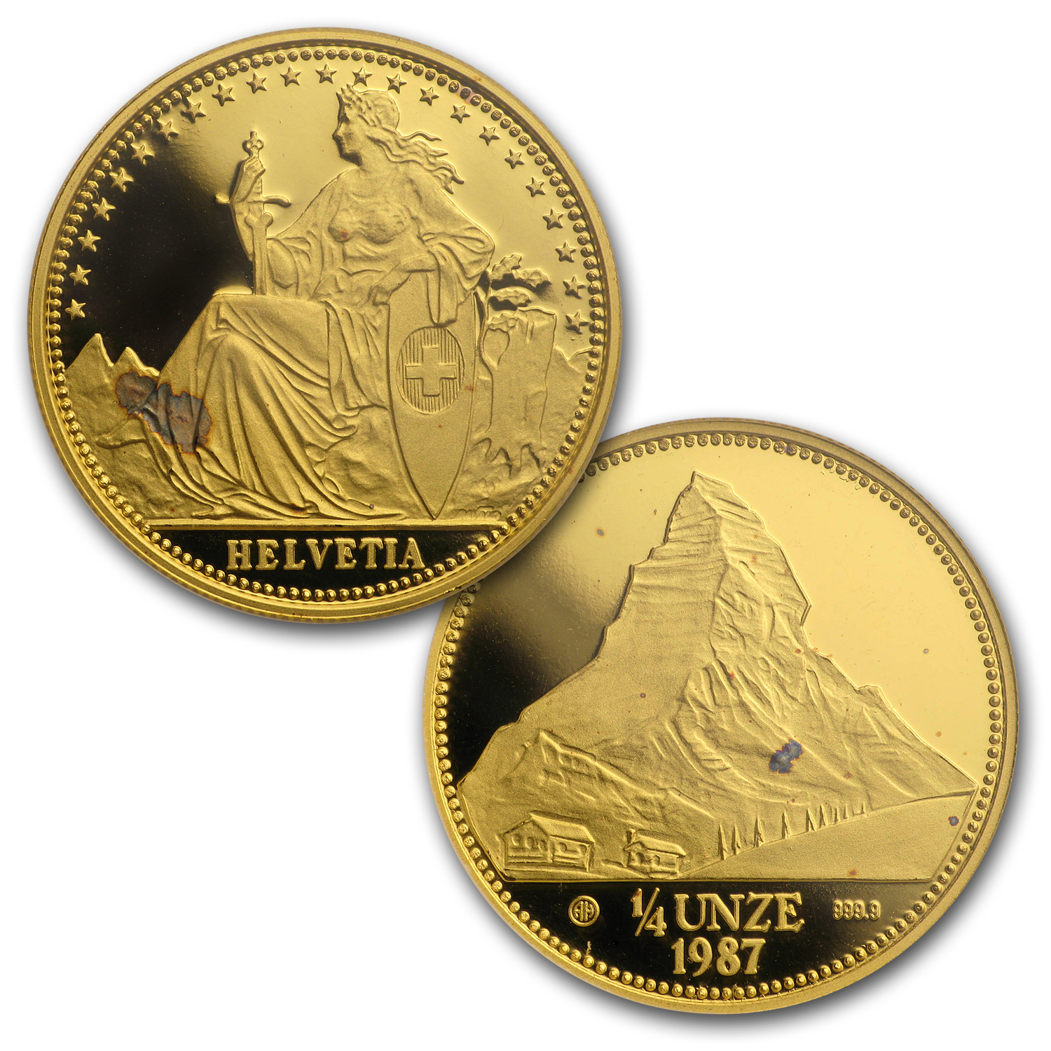 Switzerland 4-Coin Gold Proof Set (1.85 oz)