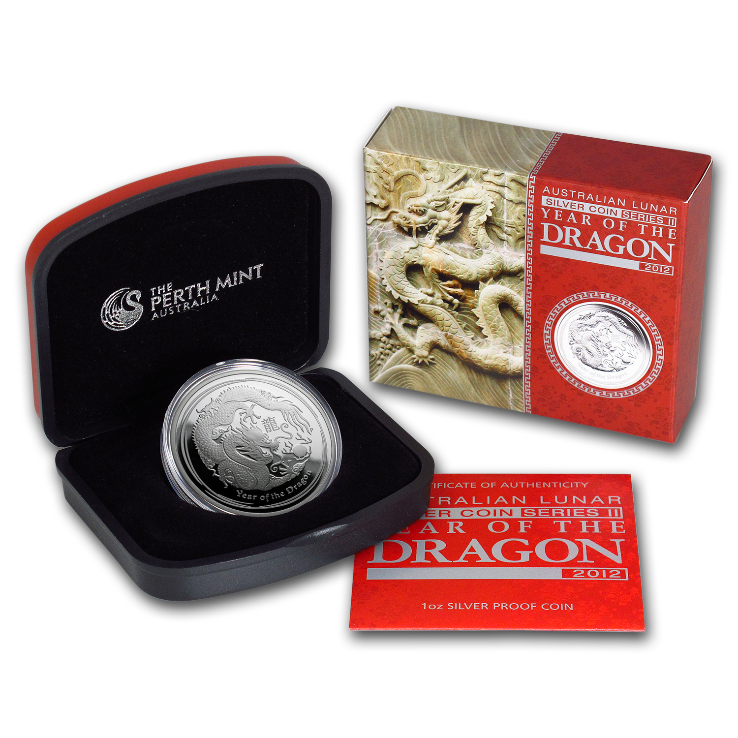 2012 Australia 1 oz Silver Year of the Dragon Proof