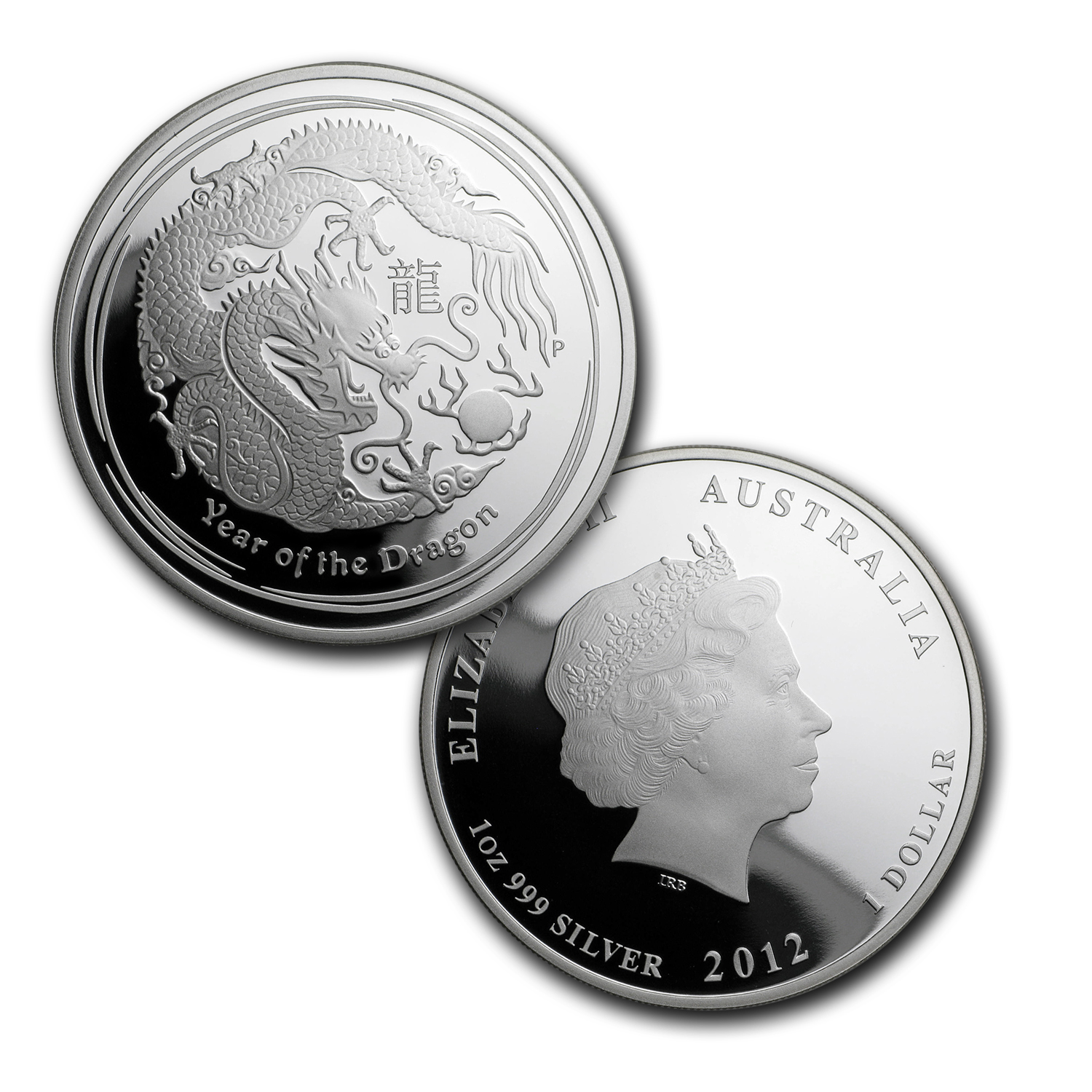 2012 Australia 3-Coin Silver Year of the Dragon Proof Set
