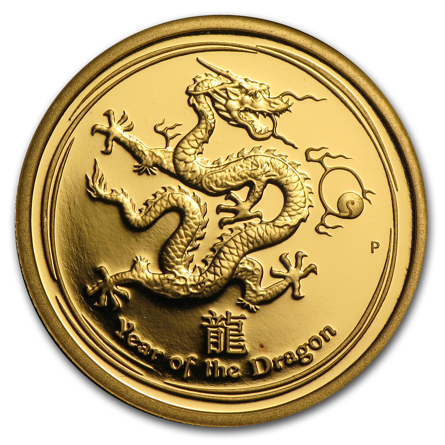 2012 1/4 oz Gold Lunar Year of the Dragon Proof (Series II)