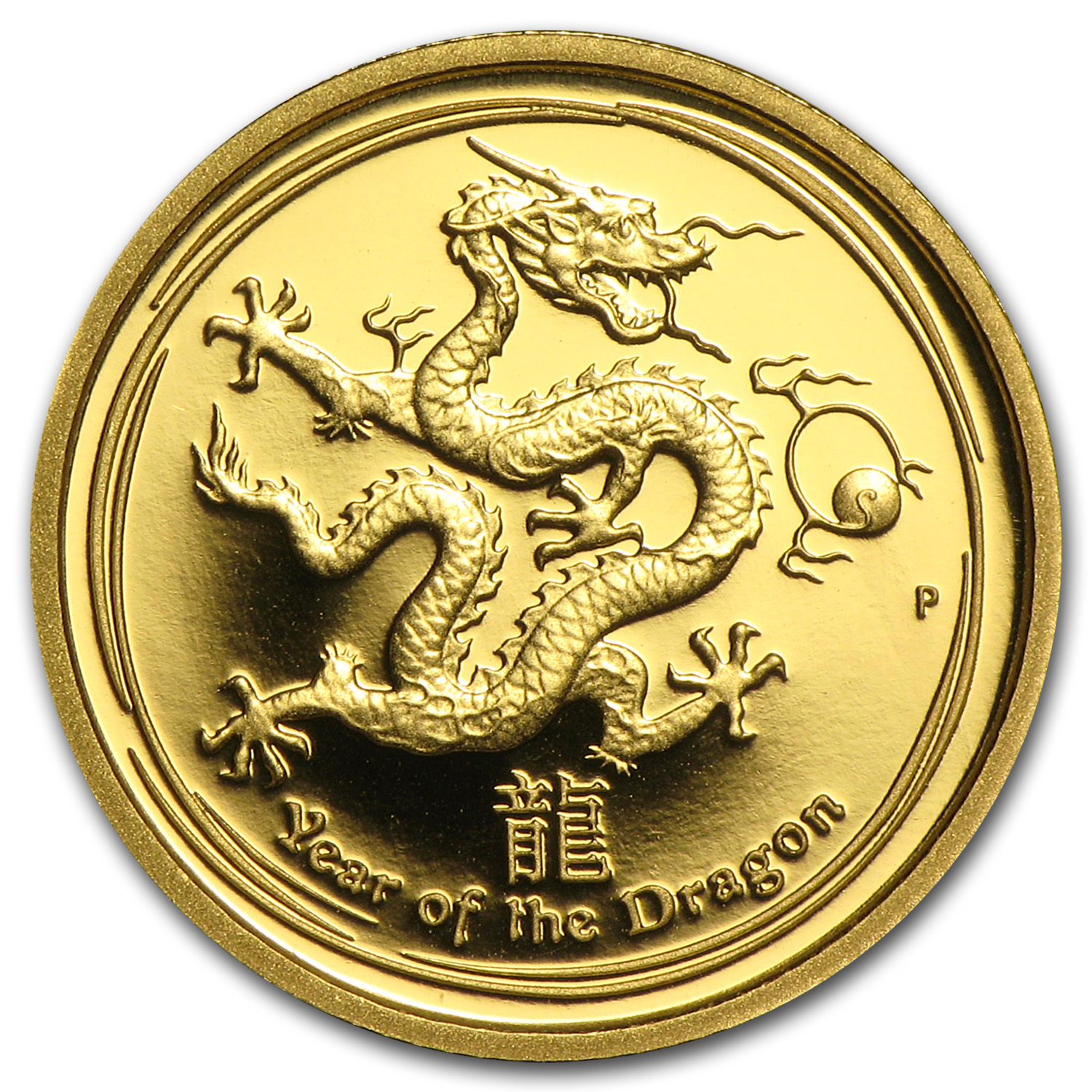 2012 Gold 1/10 oz Lunar Year of the Dragon Proof (SII)
