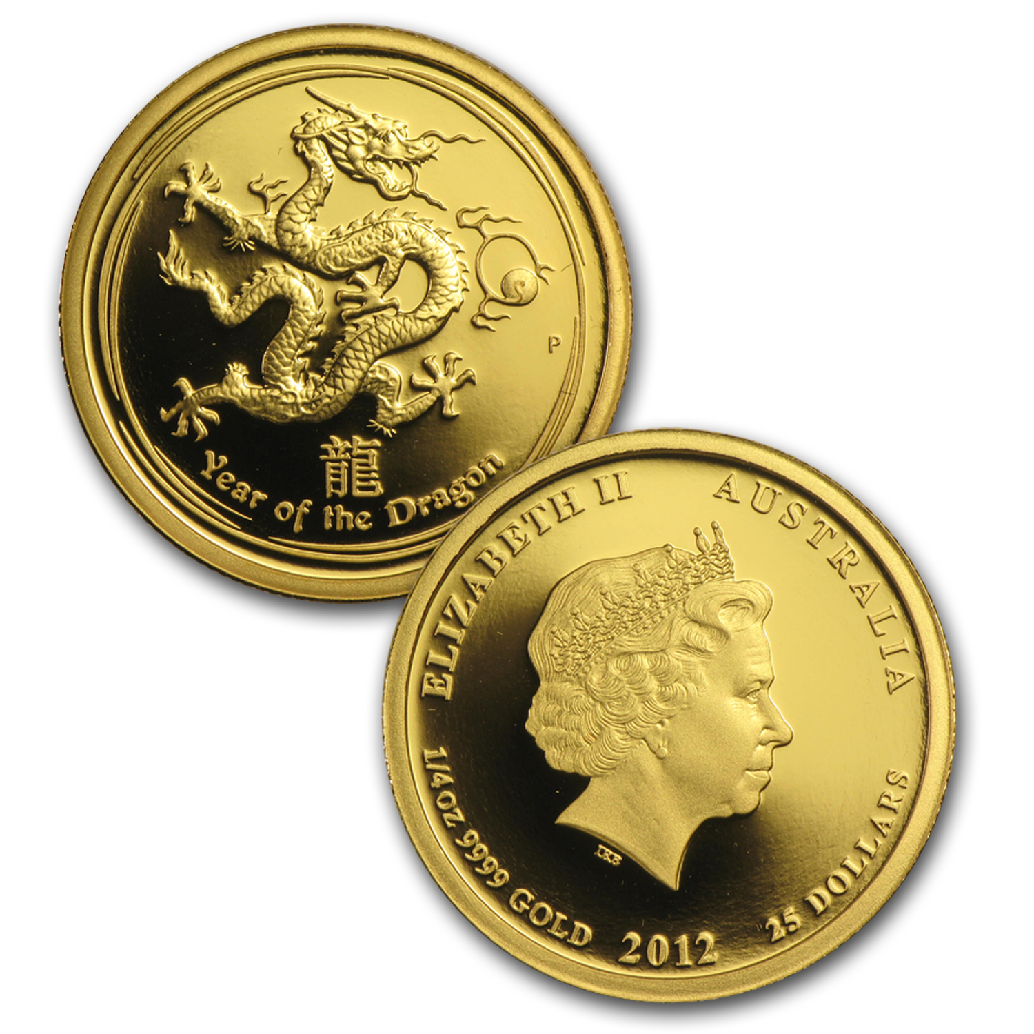 2012 3-Coin Gold Year of the Dragon Proof Set (Series II)