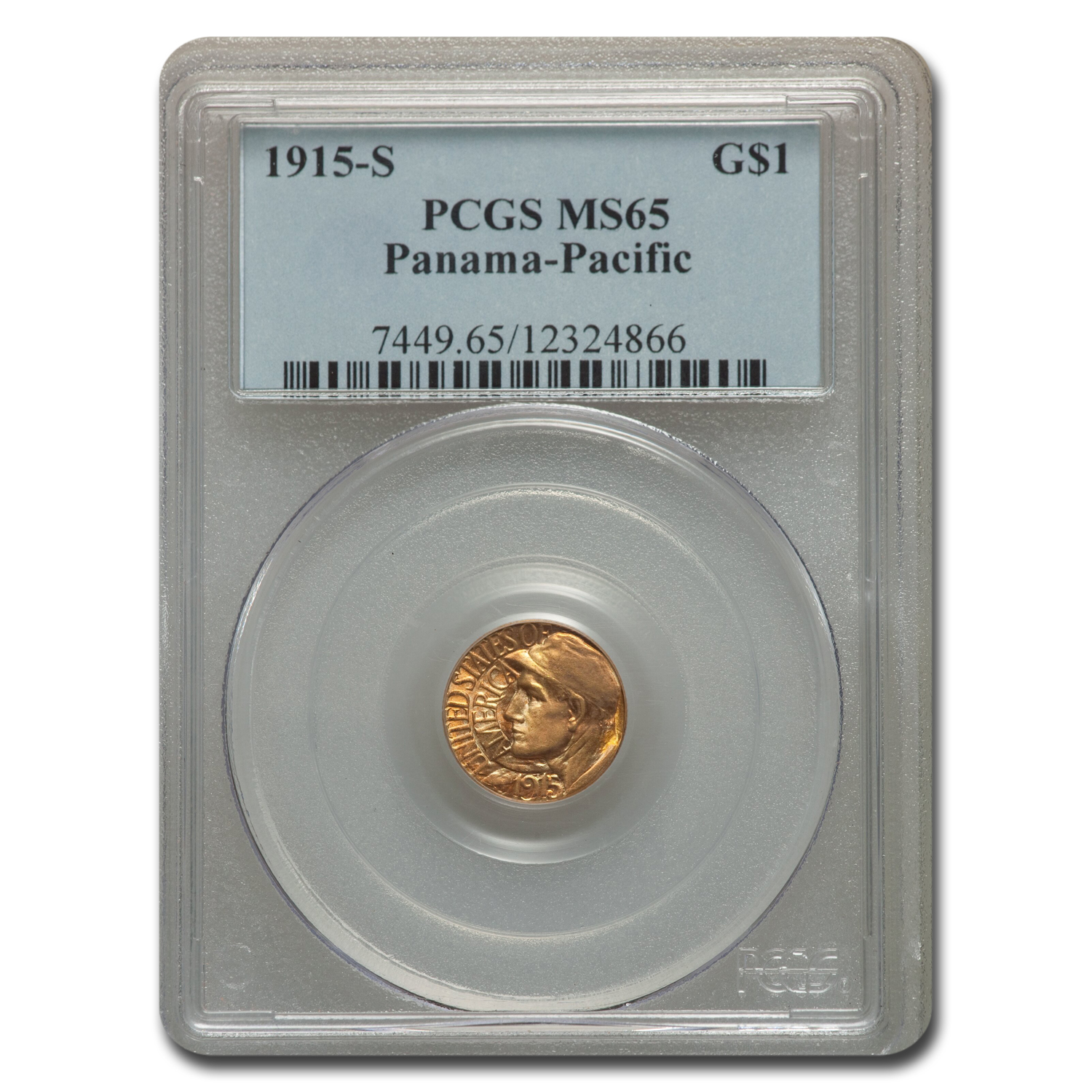 1915-S Gold $1.00 Panama-Pacific MS-65 PCGS