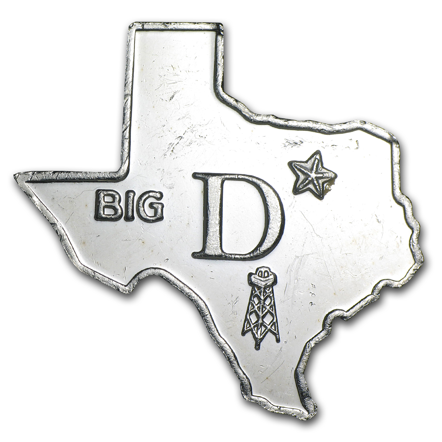 1 oz State of Texas - Big D