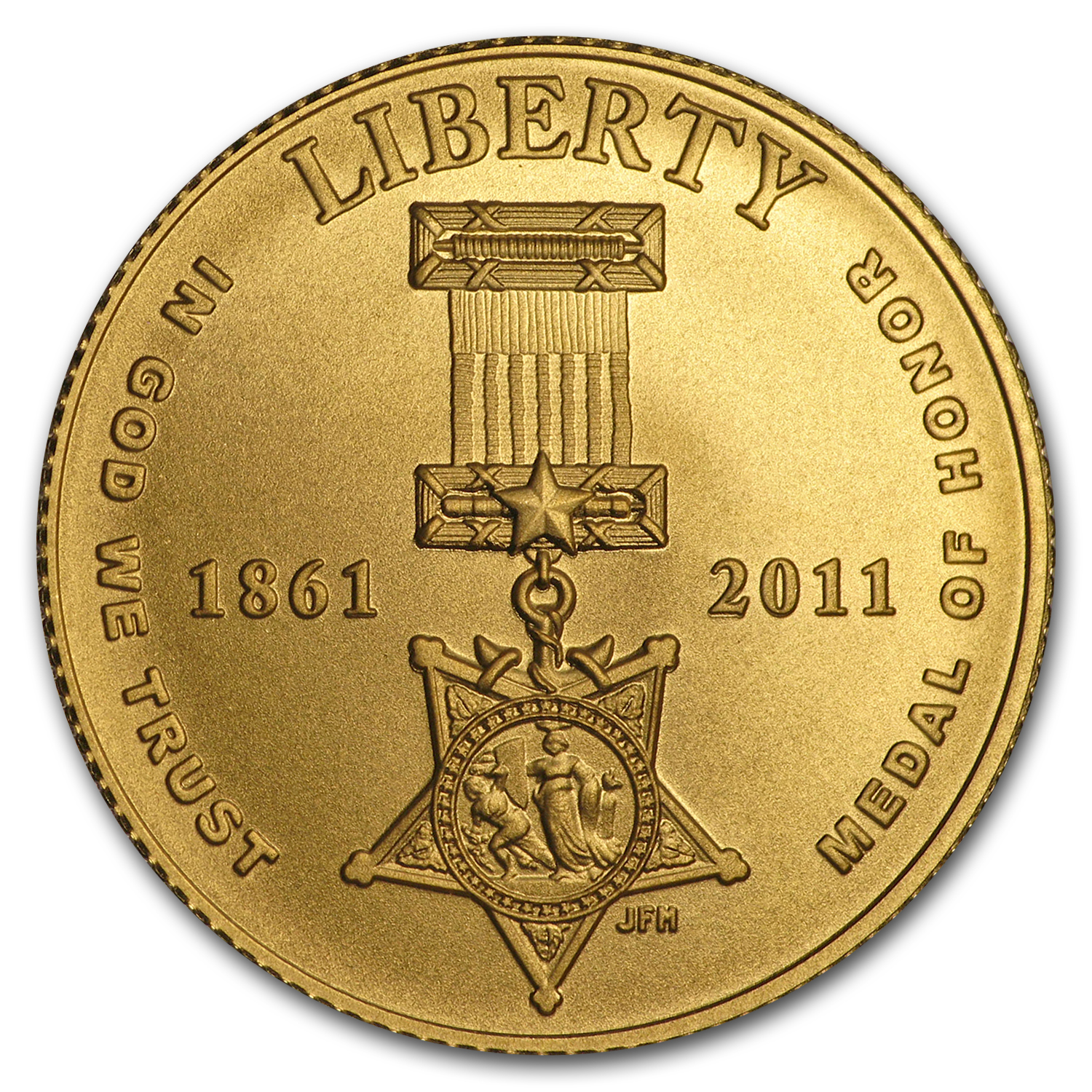 2011-P Gold $5 Commem Medal of Honor BU (w/Box & COA)