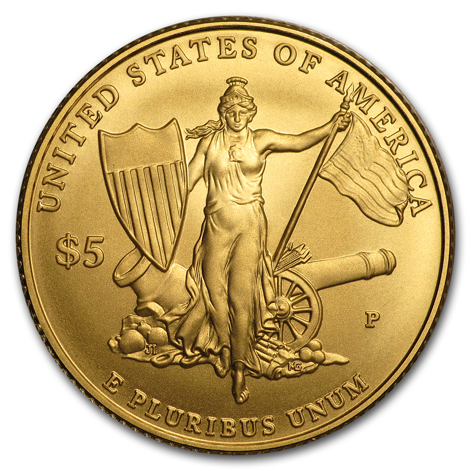 2011-P Gold $5 Commemorative Medal of Honor BU