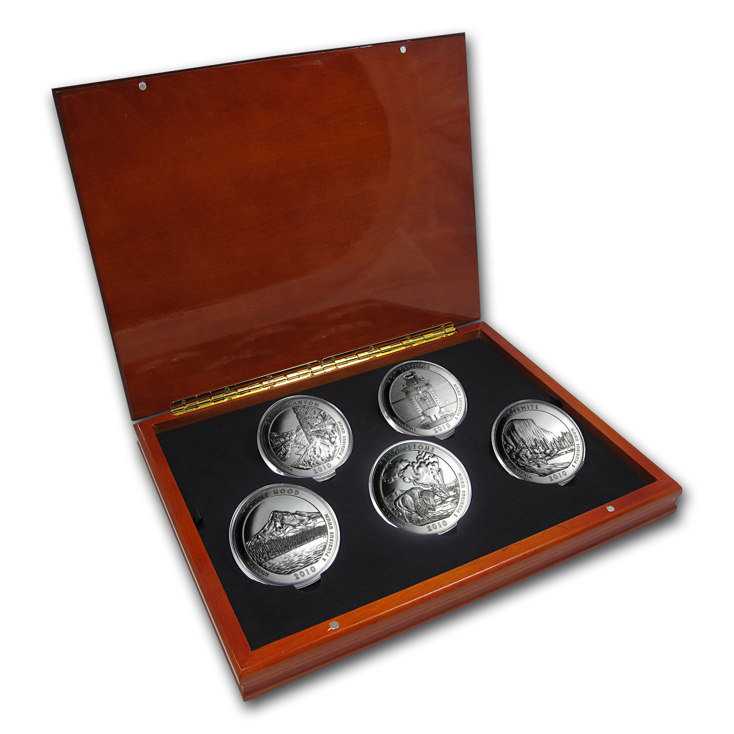 2010 5-Coin 5 oz Silver ATB Set (Elegant Display Box)