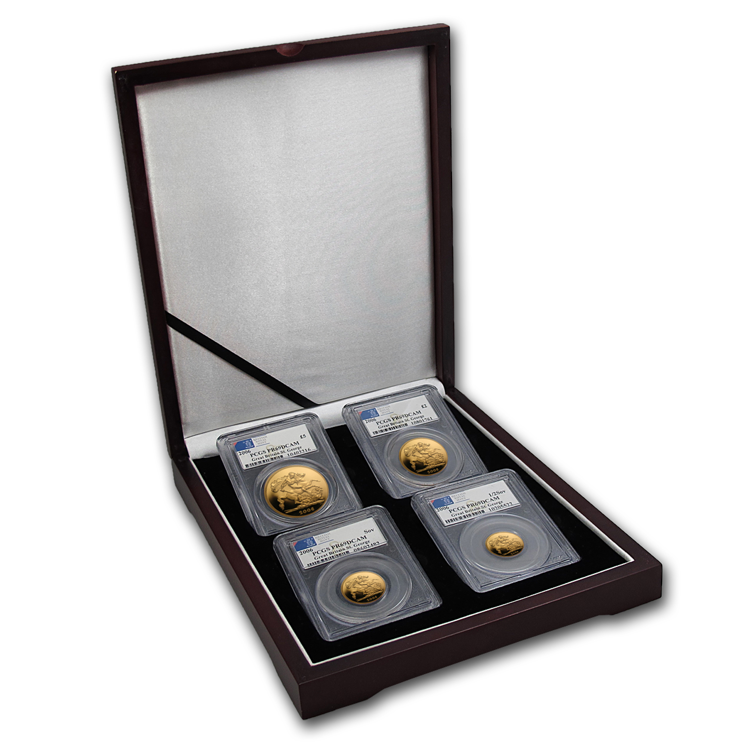 Great Britain 2005 Gold 4 Coin Set Deluxe Sovereign PR-69 DC PCGS